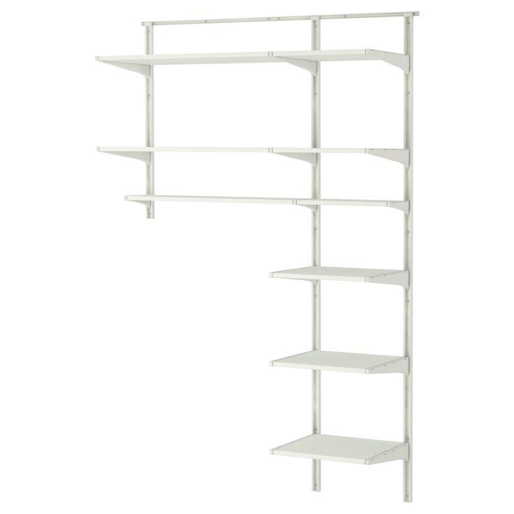 algot szyna cienna p ki ikea organization pinterest shelves walls and laundry. Black Bedroom Furniture Sets. Home Design Ideas