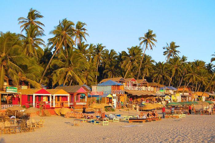 Strand, Hippies und Indisches Essen: Palolem Beach in Goa, Indien, ist ein Idyll aus alten Zeiten! Meer, Palmen, Indisch, Musik, Trance, Drogen, Kiffen