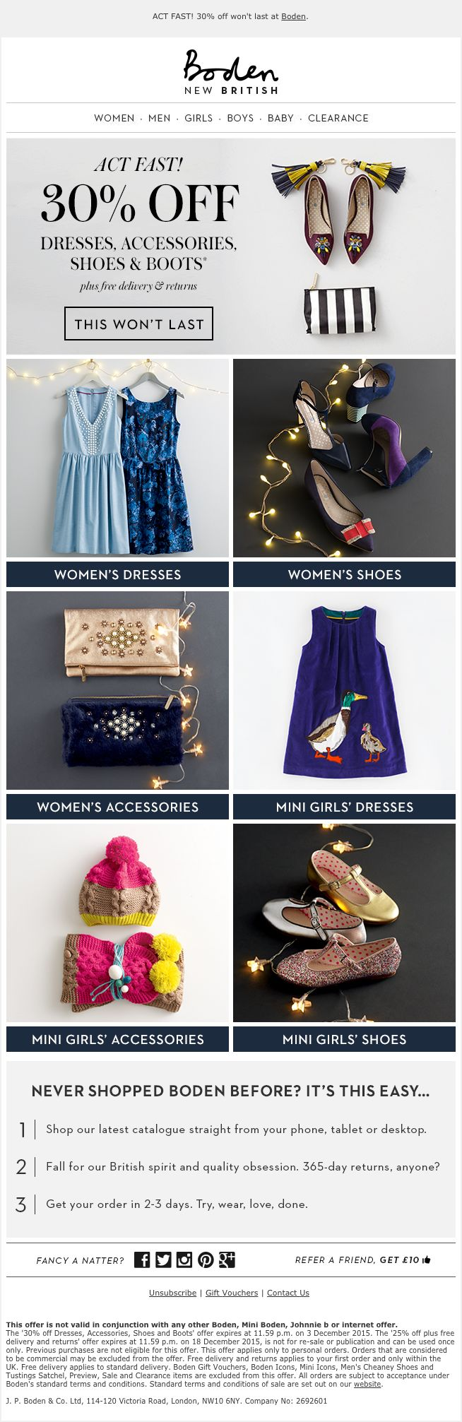 48 best email product launch images on pinterest for Boden newsletter