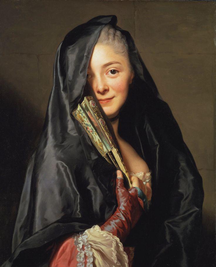 ALEXANDER ROSLIN. Dama con velo (Retrato de su esposa Marie-Suzanne Giroust). 1767.