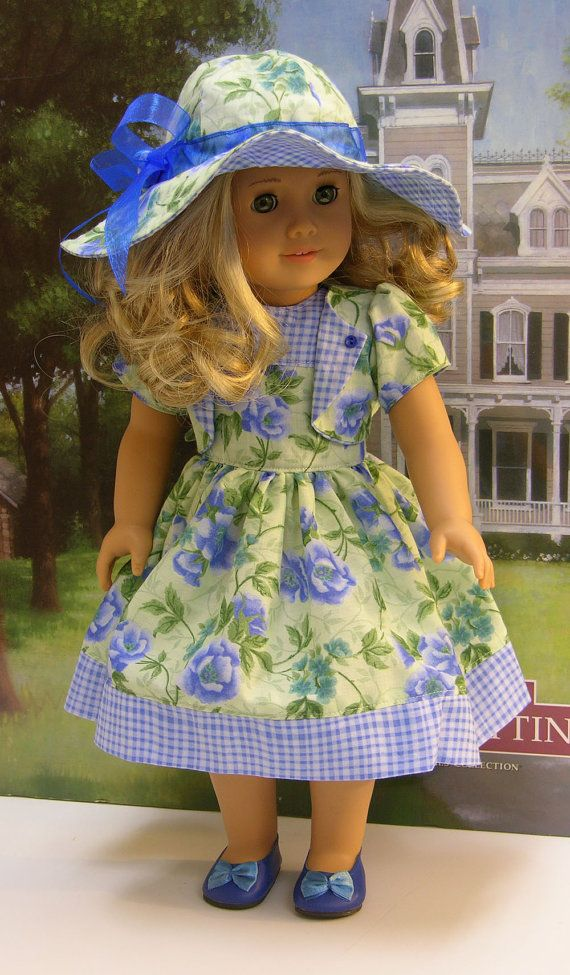 Sunday Tea Dress for American Girl doll with by cupcakecutiepie