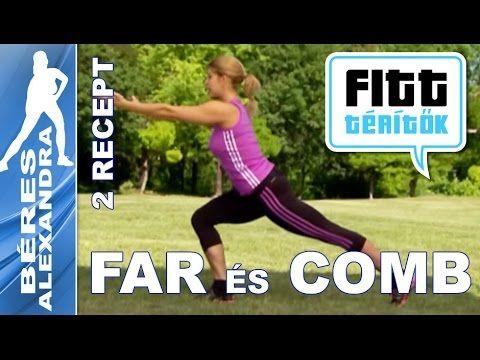 Béres Alexandra - Farizom szálkásítása és combizom edzés (Fitt-térítők sorozat) - YouTube