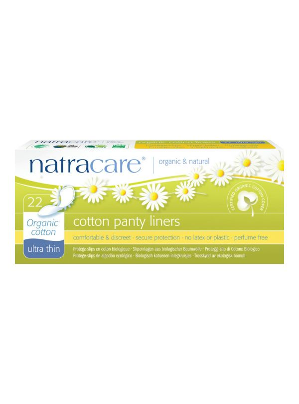 Natracare ultra thin organic cotton panty liners £3.19 Natracare ultra thin organic cotton panty liners are soft, absorbent, and breathable and shaped for extraordinary comfort.