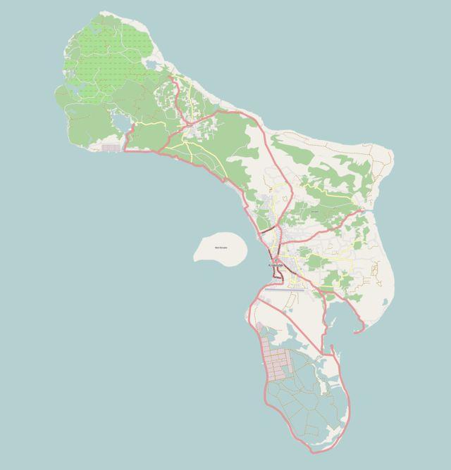 Kaart van Bonaire ◆Caribisch Nederland - Wikipedia http://nl.wikipedia.org/wiki/Caribisch_Nederland #Caribbean_Netherlands #BES_Islands