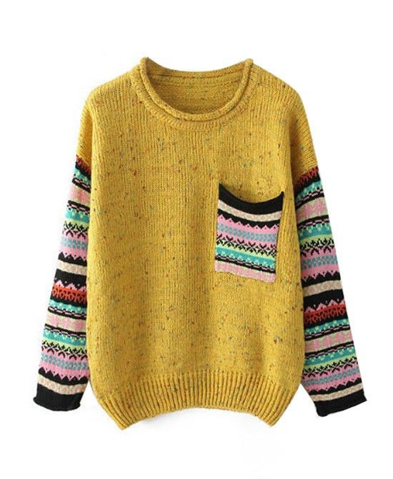 Round Neck Long Sleeves Knitwear