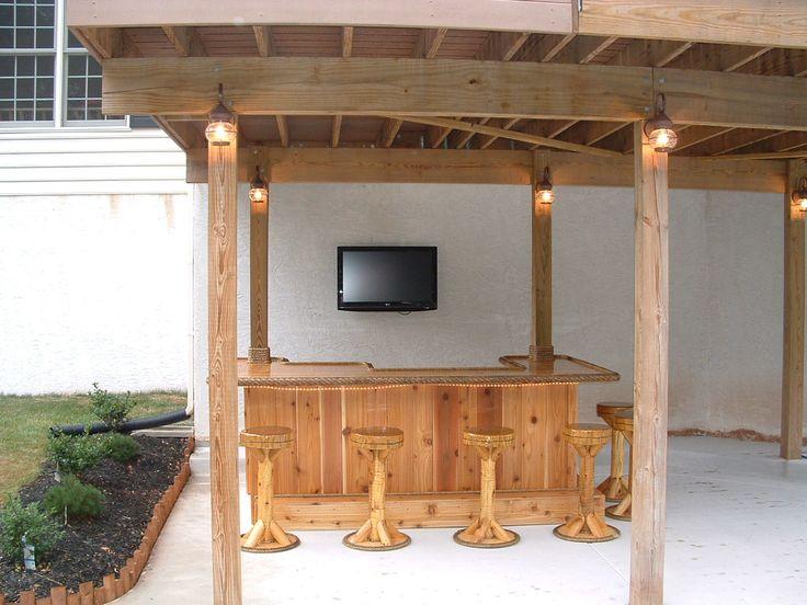 Under Deck Bar : Royersford pa custom red cedar tiki bar i