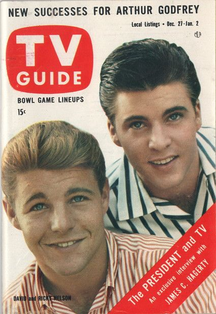 "David and Ricky Nelson of ""The Adventures of Ozzie and Harriet"" December 27 1958-January 2 1959"