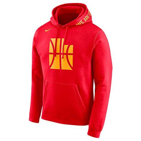 c4f1ffb15 NIKE MEN'S UTAH JAZZ NBA CLUB CITY FLEECE PULLOVER HOODIE, RED. #nike  #cloth #