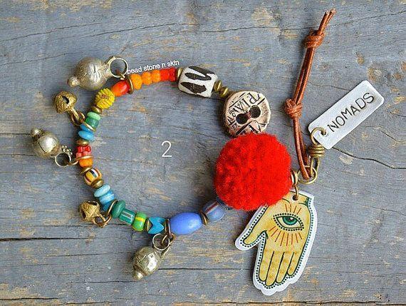 Hipppie Boho Gypsy trade beads by BeadStonenSkin on Etsy