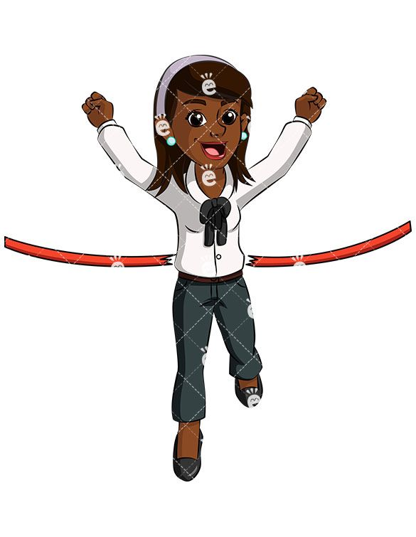 A Black Female Entrepreneur Breaking The Finish Line Tape:  #accountant #accounting #achiever #achieving #action #adorable #affiliate #african #african-american #american #attractive #banker #best #black #blue-collar #boss #breaking #business #businessdirector #businesswoman #capitalist #career #cartoon #CEO #character #clipart #company #competition #competitor #competitors #confidence...
