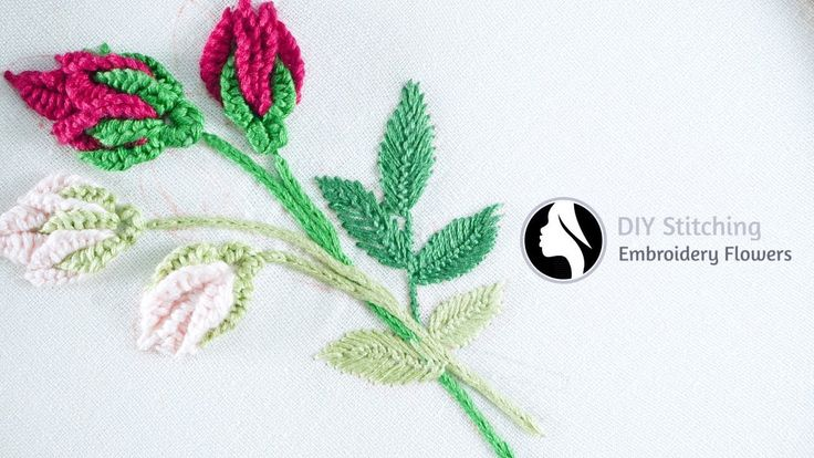 Hand Embroidery Flowers | cómo bordar flores (paso a paso) | by Diy Stit...