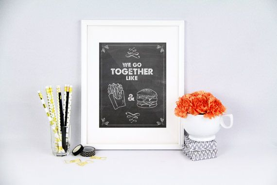Kitchen pun we go together together printable by PureJoyPrintables