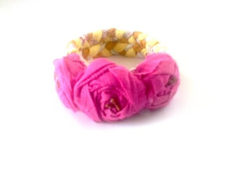 Bracelet with roses The braided tresses It by recyclingroom, $25.00