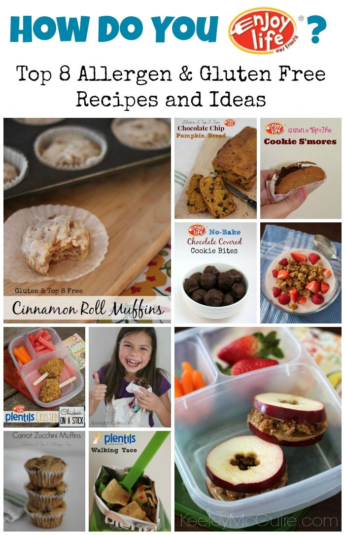 How Do YOU Enjoy Life? Top 8 Allergen & Gluten Free Recipes & Ideas! @Enjoy <3 <3 <3 <3 Life Foods