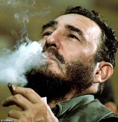 Fidel Castro - smokking.... he had the guts to stand against America....