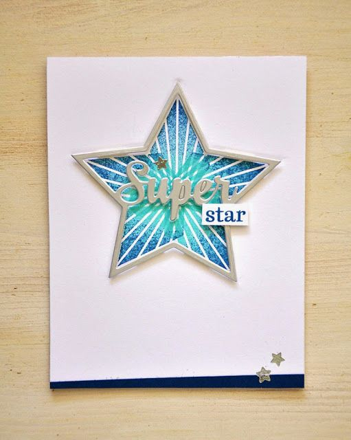 Enclosed: Star Super Star Card by Maile Belles for Papertrey Ink (May 2015)