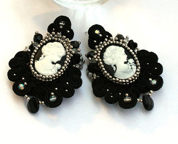 Victorian soutache earrings High Fashon Soutache