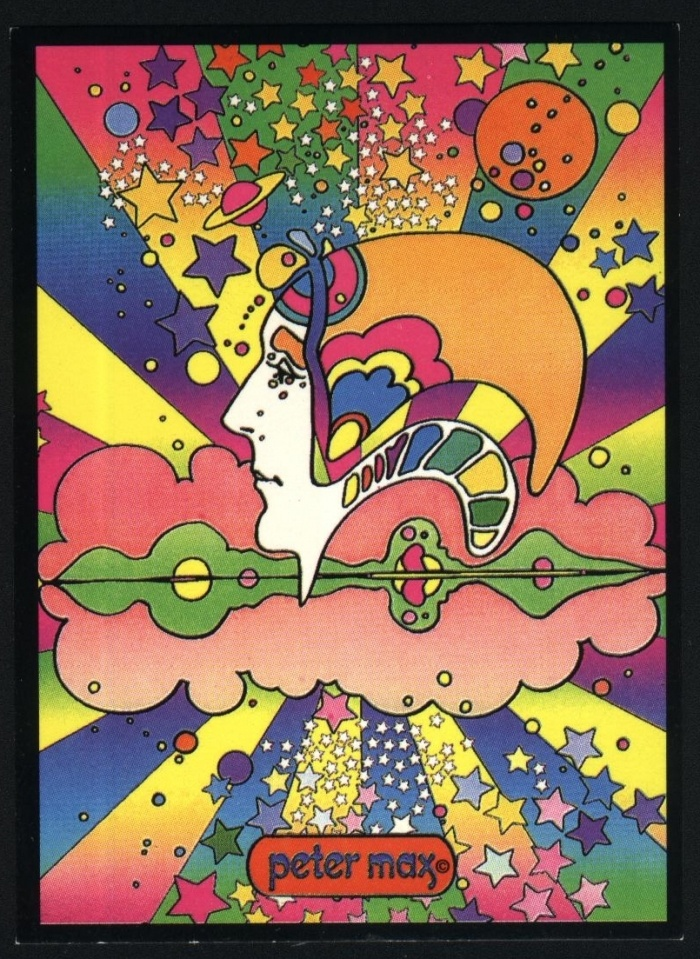 Psychedelic art – Peter Max    I love his early works, especially the profiles
