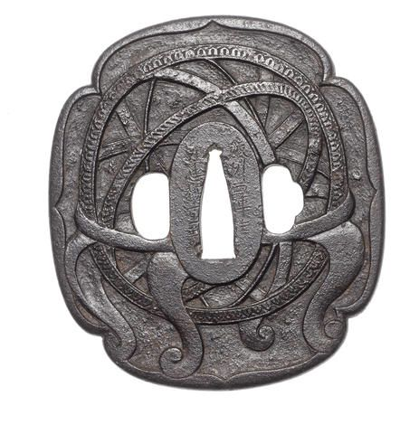 Namban Tsuba with the armilar sphere, D. Manuel I royal crest, the great king of the Portuguese discoveries