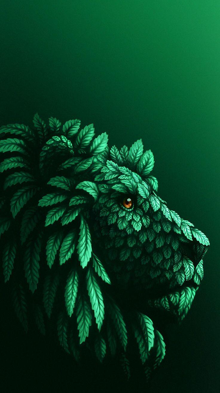 #Grün #green #Löwe #lion #Blätter #leaves #HamburgEnergie