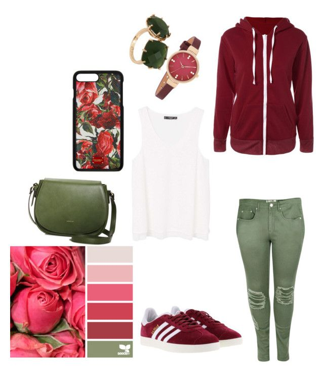 """rose"" by kiwi21drexel on Polyvore featuring Boohoo, MANGO, adidas, Angela Roi, Dolce&Gabbana and Les Néréides"