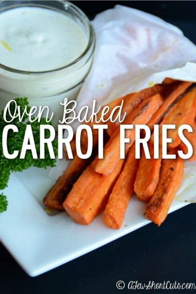 A healthy alternative to french fries! These Oven Baked Carrot Fries are so simple to throw together and are full of flavor. You have to give this healthy snack recipe a try!