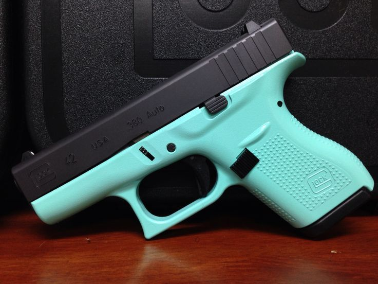 Glock 42 Tiffany Blue - from Kelo Guns, Phoenix - Merry Christmas to me from my sweet guy.