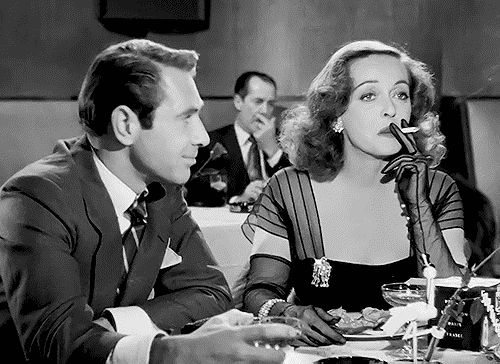 Bette Davis with Gary Merrill in All About Eve (Joseph L. Mankiewicz, 1950)