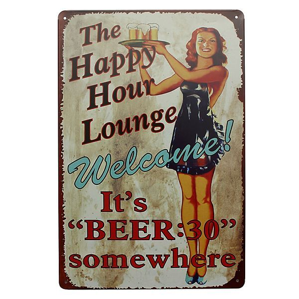 Vindima de sinal de lata de cerveja de ociosidade decoração de parede de Home de: Bid: 10,67€ Buynow Price 10,67€ Remaining 08 dias 21 hrs…