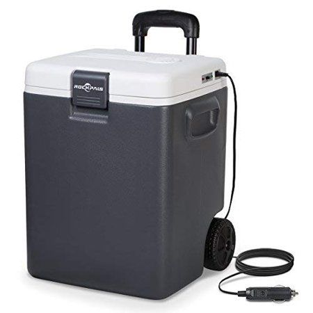Rockpals Cwl 30l Mini Fridge Electric Cooler Warmer Plug In 12v 30quart Portable Iceless Thermoelectric Car Refrigerator Chiller For Truck