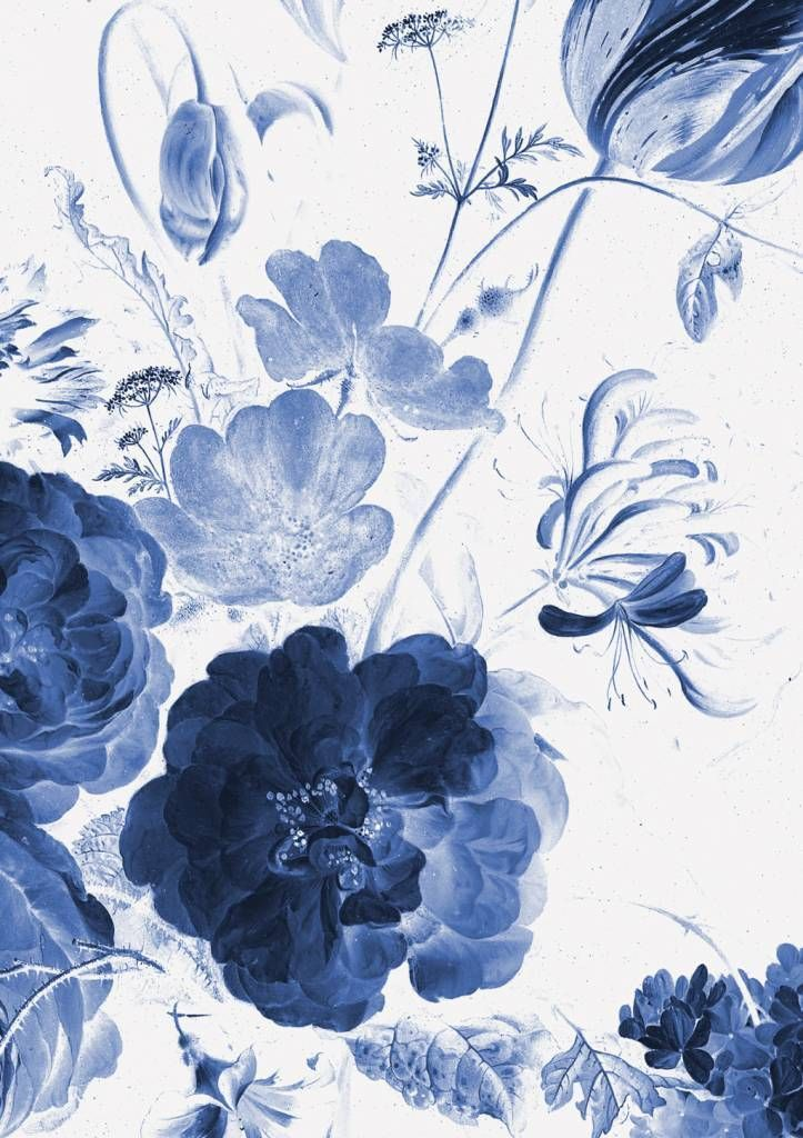 Pin On Wallpaper Blue floral wallpaper iphone