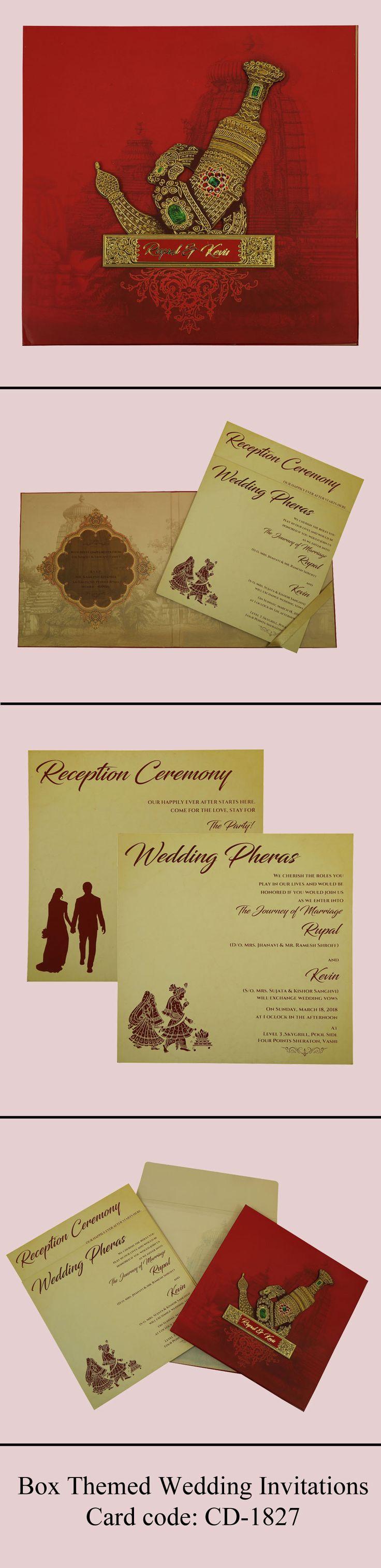 BOX THEMED WEDDING INVITATIONS....#weddings #royal #bohemian #invitation #marriage #classic #love #trends #hindu