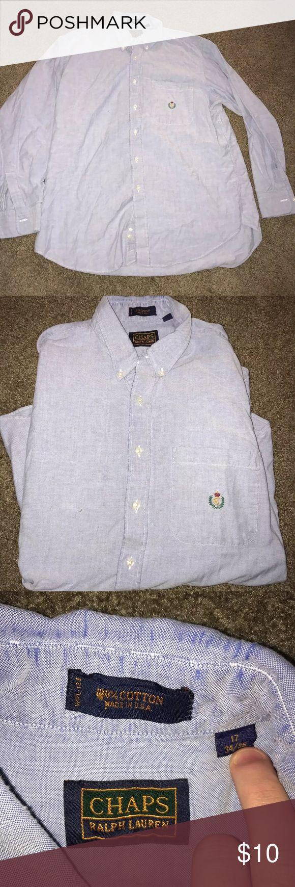 Chaps Ralph Lauren Men's Dress Shirt 17 34/35 Vintage dress shirt in excellent condition Ralph Lauren Shirts Dress Shirts