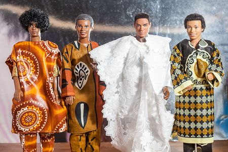 Real Wedding Album: Nigerian Barbie and Ken! Complete With Itty-Bitty Louboutins AND a Money Dance!   You've Gotta See This! : Save the Date