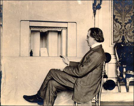 Edward Gordon Craig(1872-1966) one of most influential theatrical designers in early 20th century,  known for using nonrealistic, symbolist design