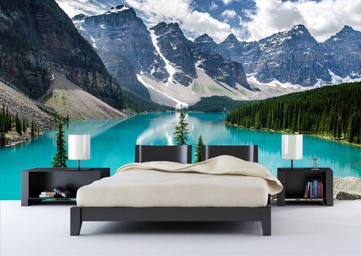 Fotomural Lago Moraine, una espectacular vista de la naturaleza en su máximo esplendor a tan solo $69.000 el metro cuadrado. #moraine #fotomurales #naturaleza #canada