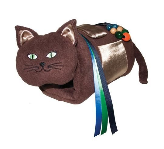 A real like cat hand warmer with sensory accessories  from S&S Worldwide. Great for dementia or alzheimer's patients