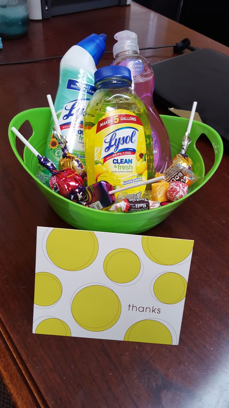 Great move in gifts for your residents! All items were purchased from tech dollar store! Simple yet chic!