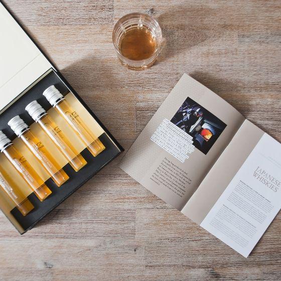 Cinq flacons, de 5 cl chacun, pour (re)découvrir et (re)apprécier la variété et la richesse des distillats de ce temple du whisky japonais Nikka.