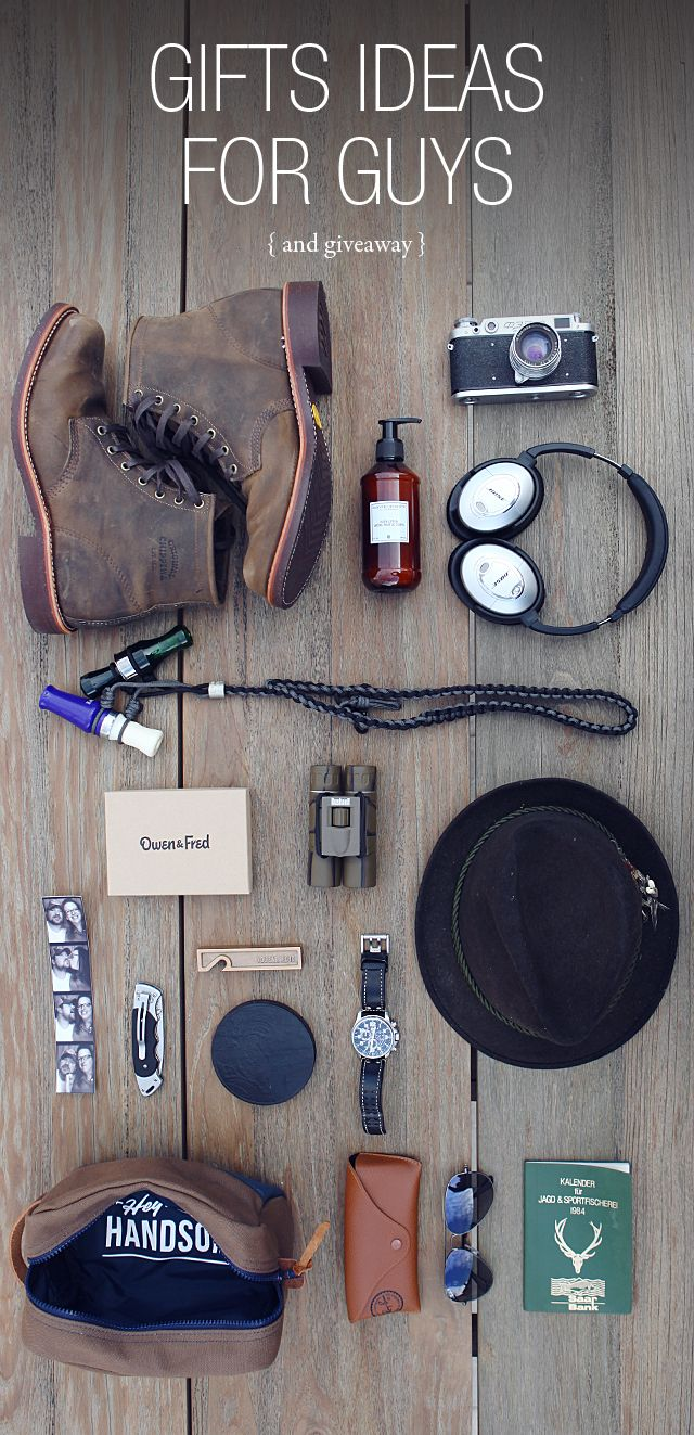 Giveaway from Owen & Fred and a very manly gift guide- and LOVE this styling.