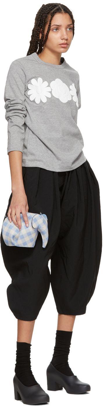 Loewe - Blue Gingham Mini Elephant Bag