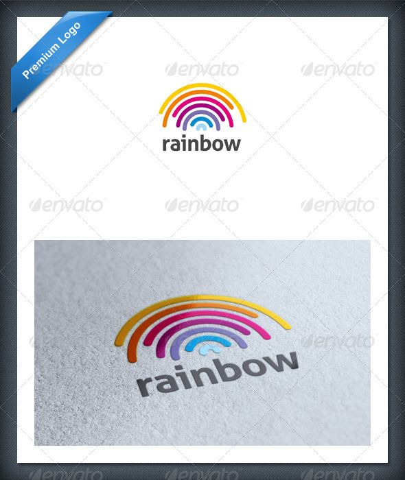 the symmetrical part of the design makes the illustration have a formal aspect making the design more serious. The use of a range of colours in the rainbow accurately represent a rainbow but also make the design more appealing