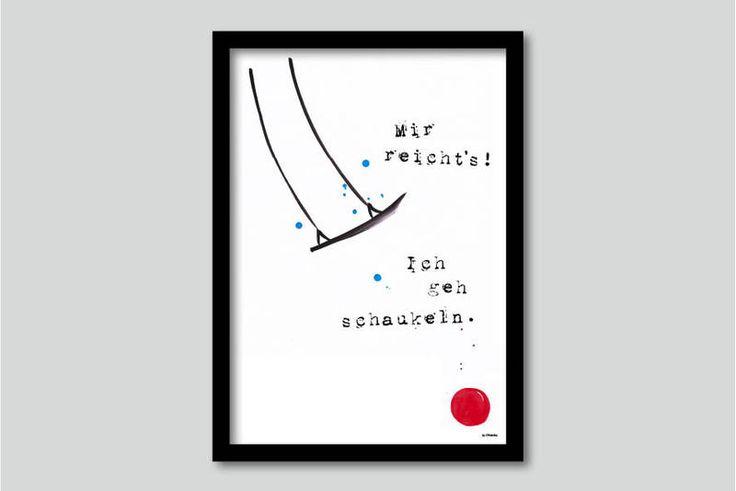 """Print """"Ich geh´Schaukeln"""" A4 und A3 von Ohkimiko auf DaWanda.com"""