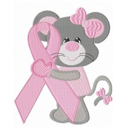 Breast Cancer Ribbon Mouse (4 designs)