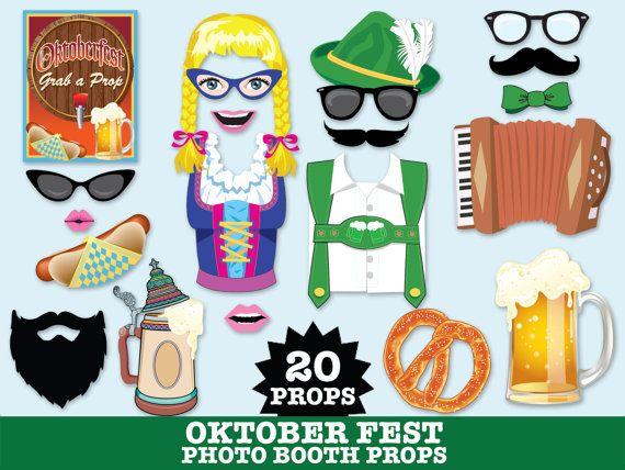 Oktoberfest Photo Booth Props Octoberfest by SimplyEverydayMe