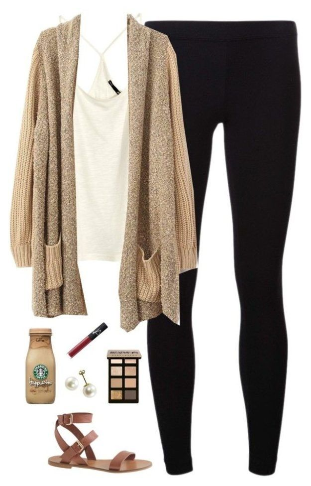 Brown, Beige And Nude Colors | Cute College Outfit ideas To Match Your Natural Makeup