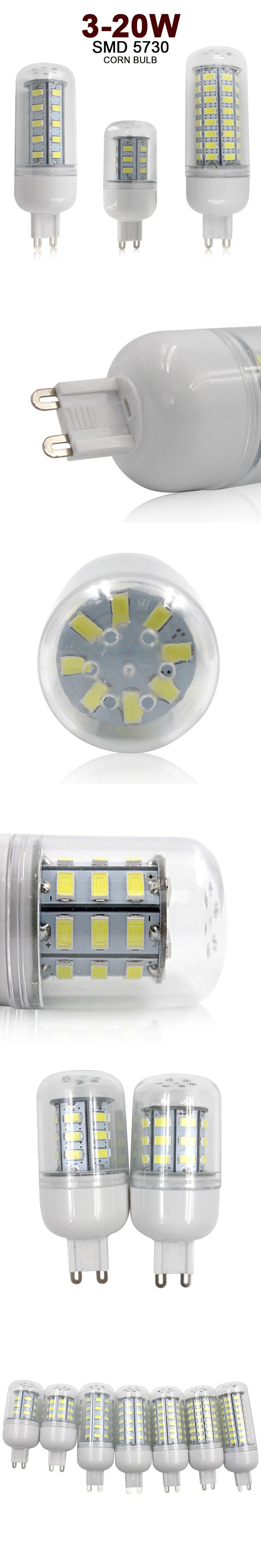 Lamp Led G9 Led 220v Corn Lights SMD5730 3W 5W 7W 9W 12W 15W 20W Lampada de Led Home Decorative Light Bulb $3.76