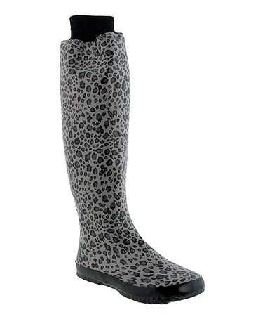 Take a look at this Gray Leopard Rain Boot by Capelli New York on #zulily today! $38 !!