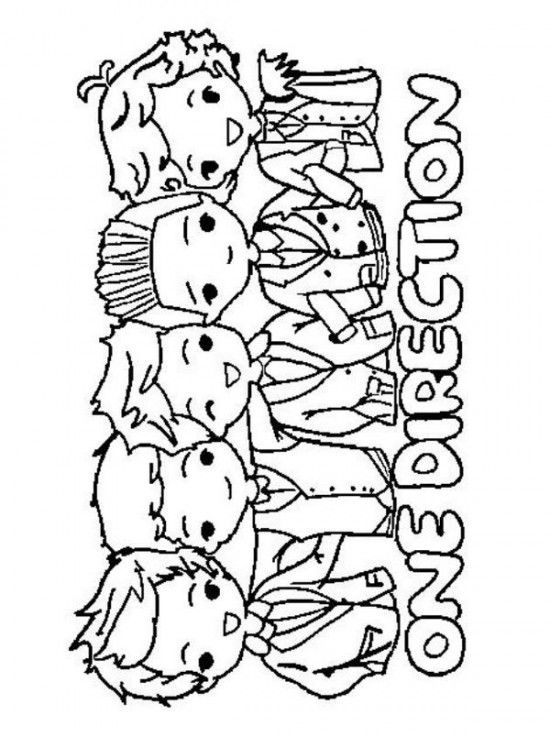 chibi one direction coloring pages - photo#7