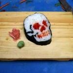 calavera-japonesa: Skullsushi, Skull Art, Halloween Food, Skull Sushi, Sushi Rolls, Sushi Art, Sushi Skull, Food Art, Food Photo